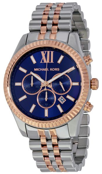 d7a4c1162a1b Michael Kors Lexington Watch for Men - Analog Stainless Steel Band -  MK8412. by Michael Kors