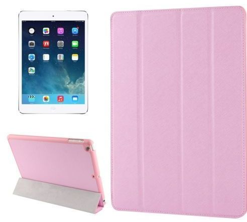 82fbd2ad3e Tri-fold Smart Leather case Belk For Apple Ipad Mini 2 3  Pink Color  With  Tempered Glass Protector