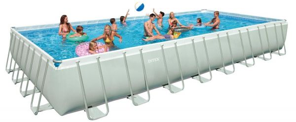 Intex Ultraset Rectangular Swimming Pool, White | Souq - UAE