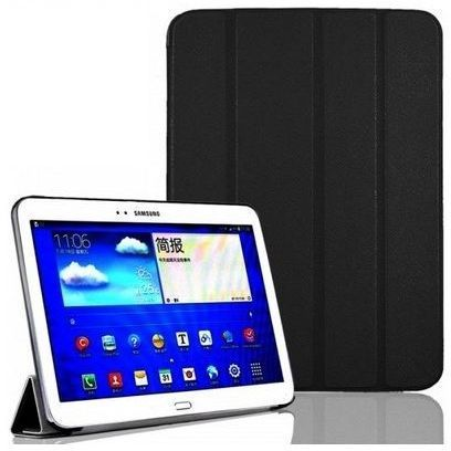 93bc1ac5e4 Tri-fold Smart Leather case Belk For Galaxy Tab4 T530  Black Color  With  Tempered Glass