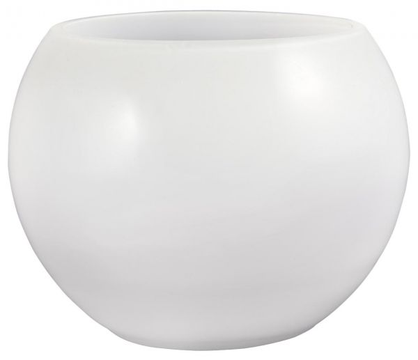 Souq Flower Mill Glass White Round Vase Kuwait