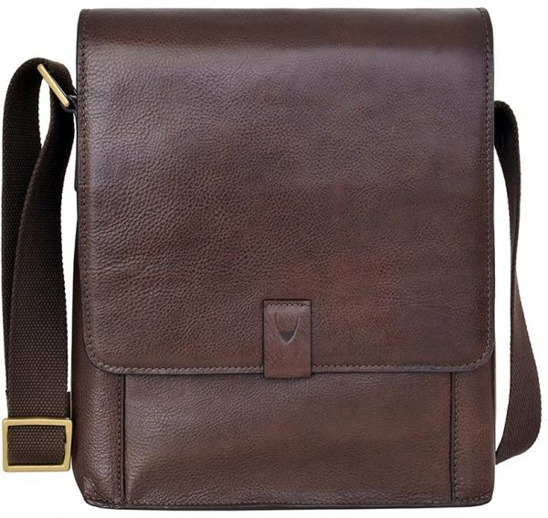 Hidesign Aiden 02 Medium Messenger Bag for Men - Genuine Leather ... 27581b41c2220