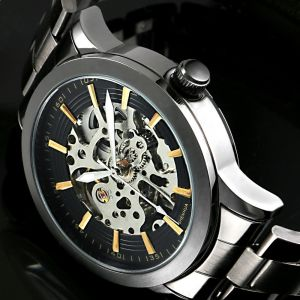 122e86fb510 Men Automatic Watch Mechanical Relogio Male Montre Dieseler Watch Mens  Relojes