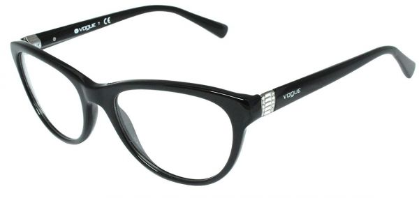7b45c15a17d Vogue Cat Eye Full Rim Frames for Women - Black