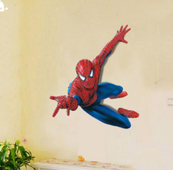 Children Cartoon Wall Decals Removable Spiderman Wall Stickers