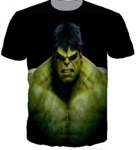 872abedab28 Black 3D T Shirt Hulk Print For Unisex Size - L