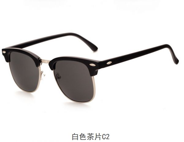 db1675f89a0 Flat Reflective Revo Color Lens Large Horn Rimmed Style Sunglasses ...