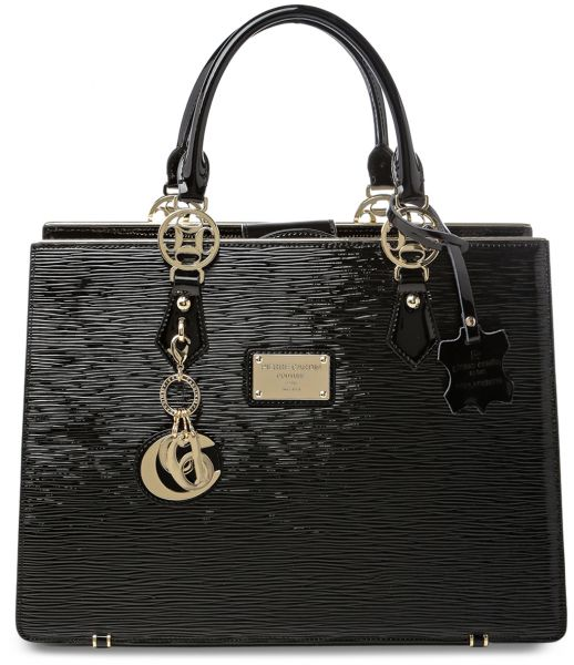 ea0812f171 Pierre Cardin Solid Shiny Top Handle Bag for Women - Leather