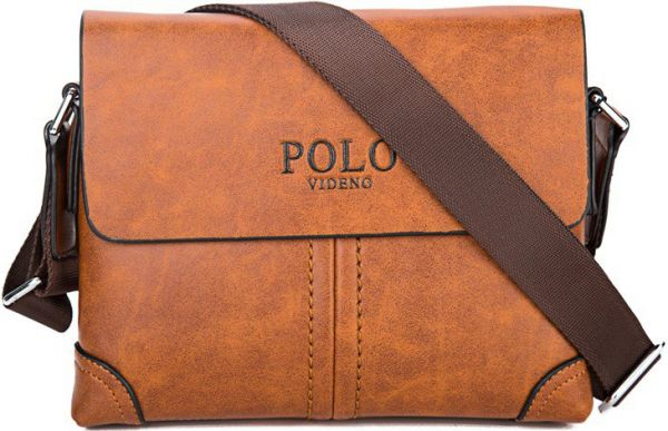 Genuine Leather Videng POLO Brand Men Messenger shoulder Travel ... f2a2f954e9