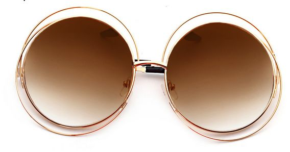 21d55ca9a1f Buy Hollow out big round circle fashion sunglasses in UAE