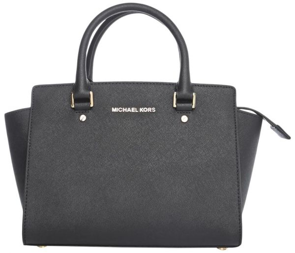 6b6ffd1eb6366 Michael Kors 30S3GLMS2L-001 Selma Saffiano Medium Satchel Bag for ...