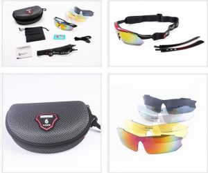 c5f6304f65e Wolfbike riding cycling Bicycle Bike UV400 Sports Sun Glasses Goggles with 5  Lens - RED