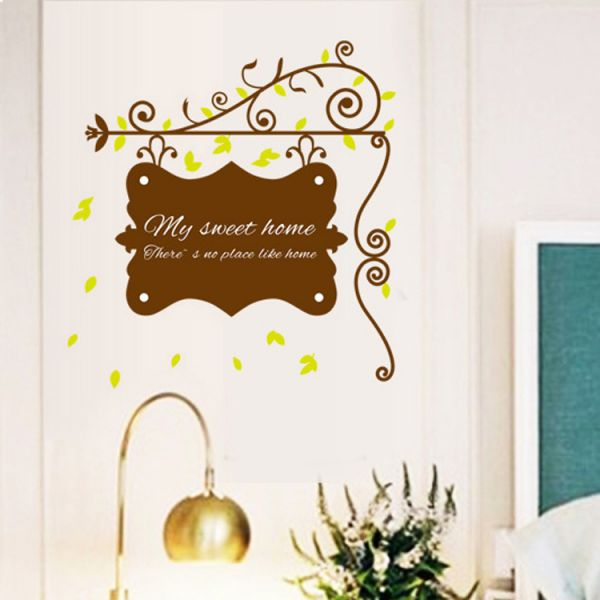 pastoral window glass decorative stickers decoration wall stickers