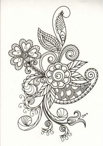 COLORING BOOK FOR ADULTS FABULOUS FLOWERS