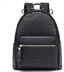 Ladies Backpack School Girl Students wind PU bag YY34 black e8b9037a6222a