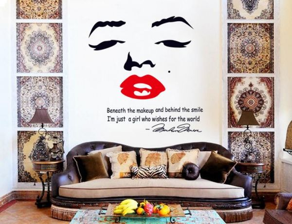 Removable Diy Wall Decals Sexy Marilyn Monroe Wall Stickers