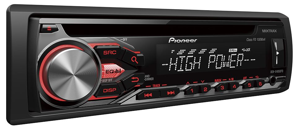 Pioneer DEH-X4850FD Audio Receiver WITH MIXTRAX