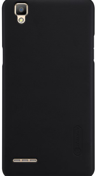 OPPO F1 A35 Super Frosted Shield Back Case With LCD Protector [Black Color]