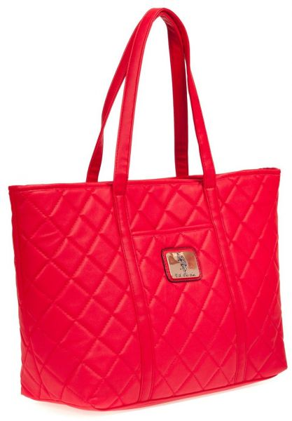 Buy U.S. POLO ASSN. Women Tote Bag With Logo Patch- Red in Egypt 6b3b0587e791d