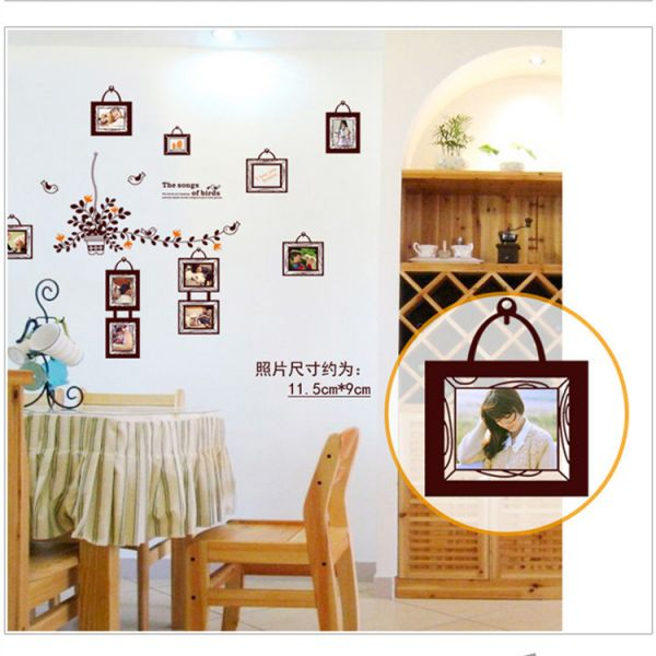 Bird Photo Frame Wall Stickers For Kid Room 3d Wall Decals Wall ...
