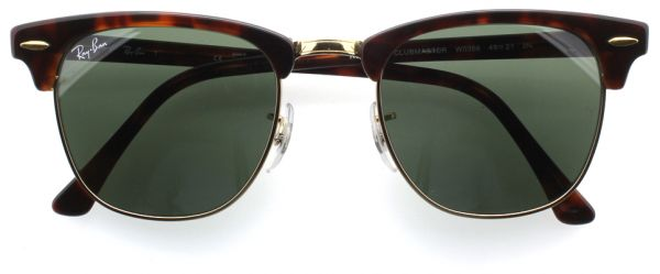 3a7593a12b Ray-Ban Unisex Clubmaster Sunglasses-Tortoise Frame -Green Classic ...