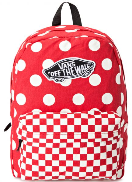 09f773e3d09 Vans VN000NZ04AZ Formula One Realm Backpack for Women - Red/White ...