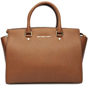 Michael Kors 30s3glms7l 230 Selma Large Saffiano Satchel Bag For Women Leather Luggage