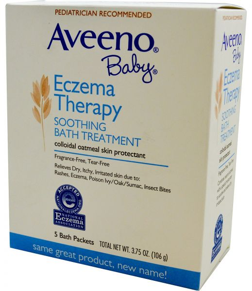 Aveeno Baby Eczema Therapy Soothing Bath Treatment Fragrance Free 5 Bath  Packets 3 75