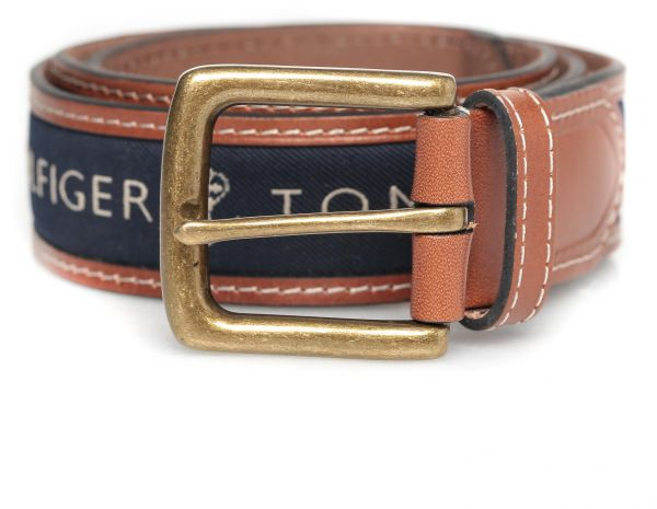 d8273631 Tommy Hilfiger Navy Blue Leather Belt For Men