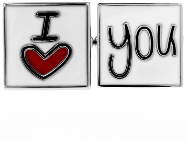 Valentine Gift I Love You Married Wedding Groom Square Cufflinks