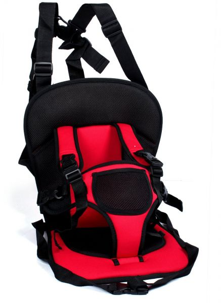 Portable Multi-Function Baby Car Safety Seat chair cushion [Red]