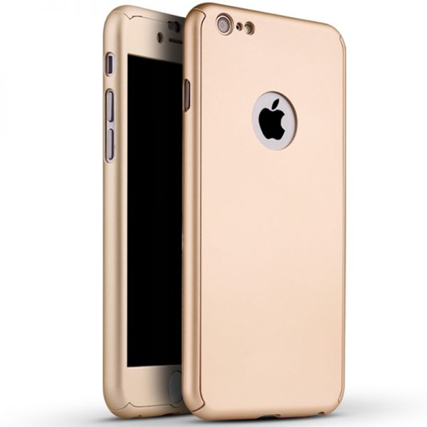 360 Degree Full Body Protection Case Rose Gold For iPho.