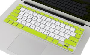 Unibody Keyboard Cover For 13,15inch Macbook Air Pro Retina[jpm0004]green-white(us Layout)