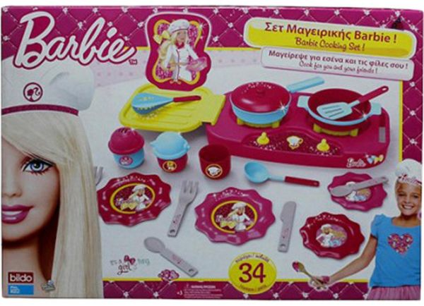 Barbie Big Kitchen Set Dolls Ksa Souq