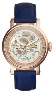 82cc18f208b Fossil Original Boyfriend Women s Rose Gold Dial Leather Band Automatic  Watch - ME3086