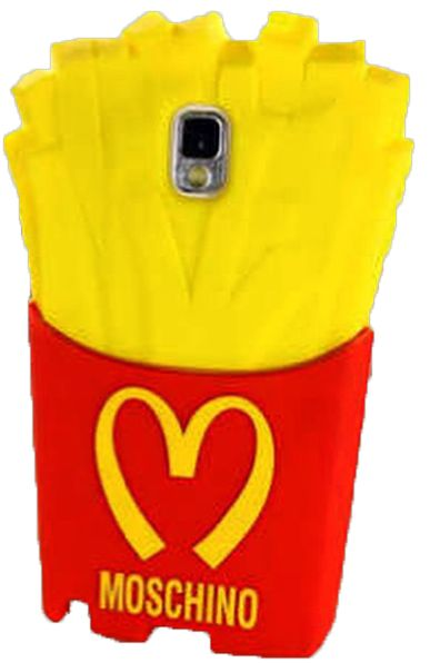size 40 8d34a 70795 Samsung Note 3 Case 3D MOSCHINO Cute French Fries Rubber Back Cover Case
