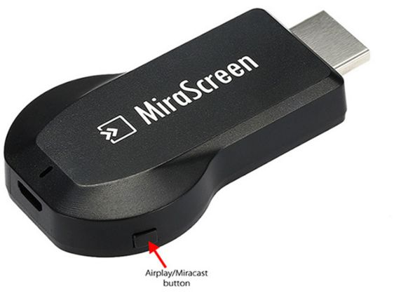 Press the button to change display MODE from Miracast To Airplay