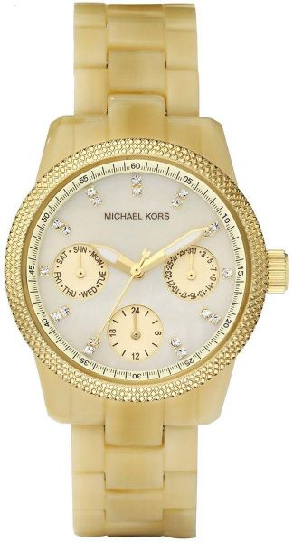 89e84f0fb920 Michael Kors Ritz Women s Mother of Pearl Dial Resin Band Watch ...