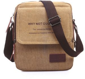 Fashion Shoulder Bag For Men Stylish Brown Canvas Crossbody Bag Korean Style  HandBag For Male 59b4ff347d