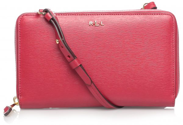 8592fa03d7d Lauren by Ralph Lauren 431504110003 Tate Multi Functional Crossbody Bag for  Women - Leather, Red