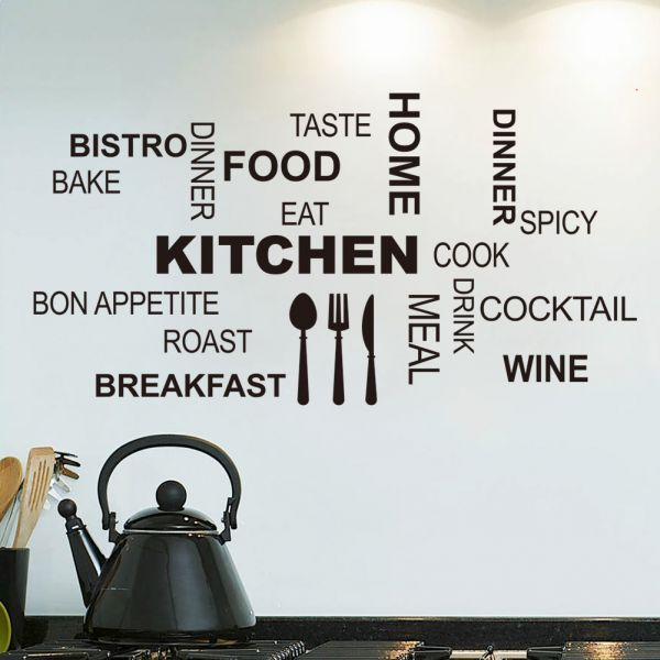 creative removable wall decals-restaurant room background wall