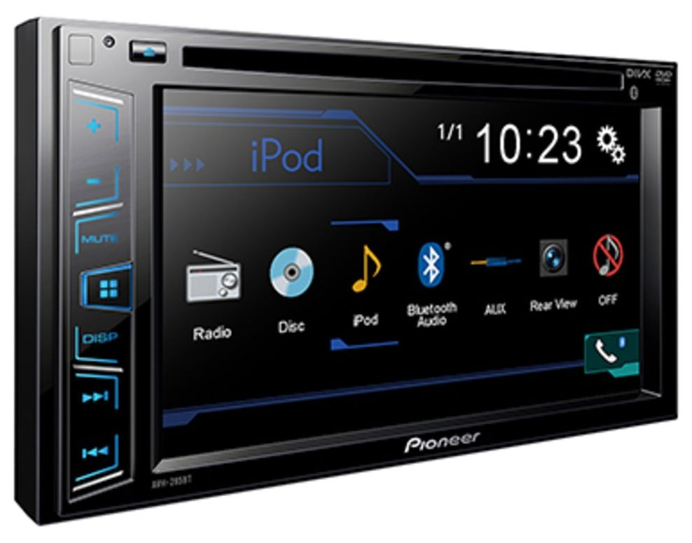 Pioneer AVH-285BT 2-Din Touchscreen Stereo, DVD/USB/AUX Player, iOS/Android/Bluetooth/SubW. Control