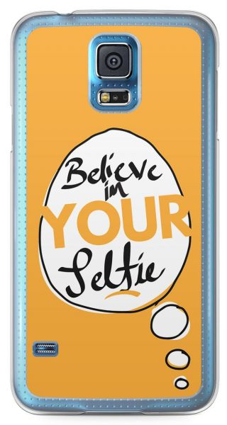 low priced 6299c 4504e Selfie Samsung Galaxy S5 Transparent Edge Case - Handdrawn