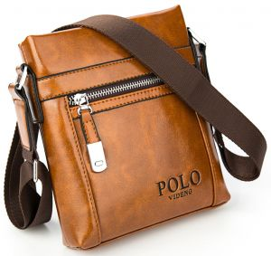 6306abbf9535 Videng Polo Leather Bag For Men
