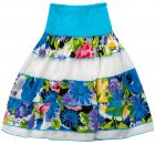 Andora Turquoise Cotton Casual Dress For Girls (Dress)