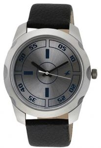 57834100165e7 Fastrack Bare Basic Men s Silver Dial Leather Band Watch - T3123SL01