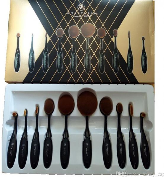 anastasia brush kit. anastasia beverly hills oval brush set kit v