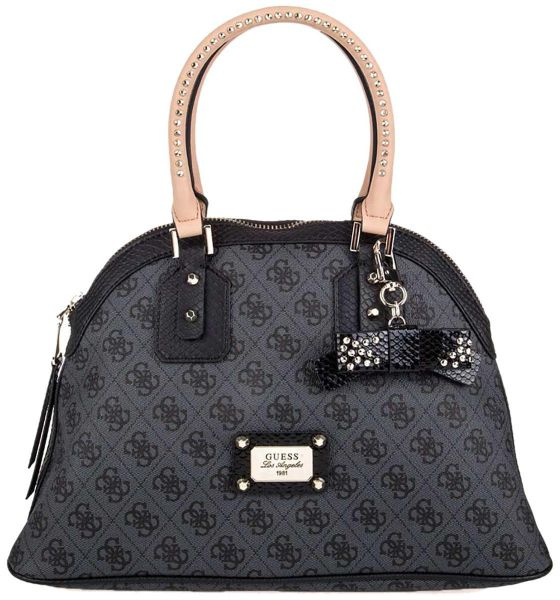 Guess Top Handle Bag For Women Leather Grey