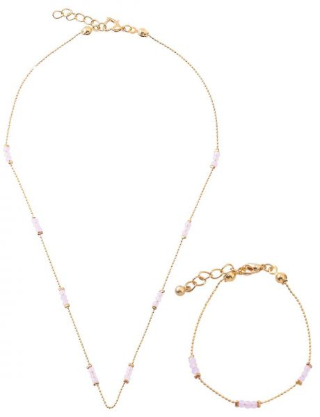 AlwanAccessories Brass and 18K Gold Plated Jewelry Set 2 Pieces
