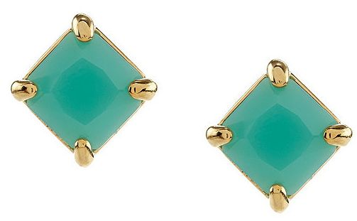Lauren By Ralph Faceted Cushion Stone Drop Earrings